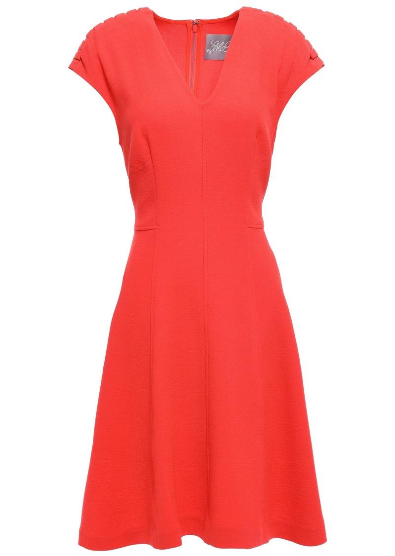 Lela Rose Woman Flared Crepe Dress Coral