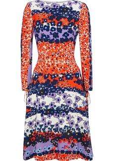 Lela Rose Woman Flared Floral-print Crepe Dress Multicolor