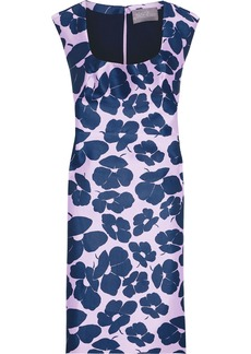 Lela Rose Woman Floral-print Duchesse-satin Dress Lavender
