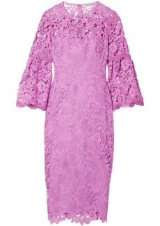 Lela Rose Woman Guipure Lace Dress Lavender