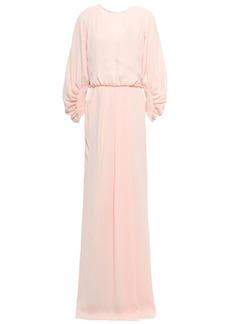 Lela Rose Woman Split-front Cloqué Gown Pastel Pink