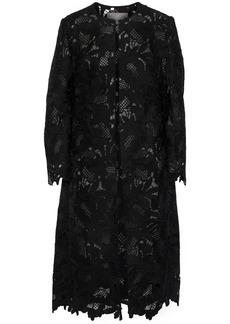 Lela Rose Woman Guipure Lace Coat Black