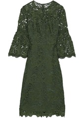Lela Rose Woman Guipure Lace Dress Army Green