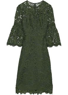Lela Rose Woman Guipure Lace Dress Army Green