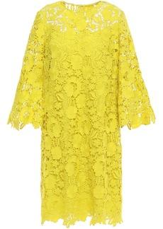 Lela Rose Woman Guipure Lace Dress Bright Yellow