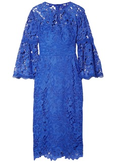 Lela Rose Woman Guipure Lace Dress Blue