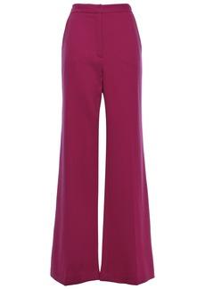 Lela Rose Woman Maggie Wool-blend Crepe Flared Pants Magenta