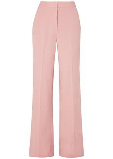 Lela Rose Woman Maggie Wool-blend Crepe Wide-leg Pants Pastel Pink