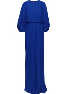 Lela Rose Woman Split-front Cloqué Gown Blue