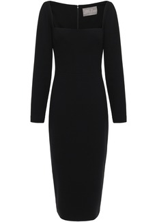 Lela Rose Woman Wool-blend Crepe Midi Dress Black