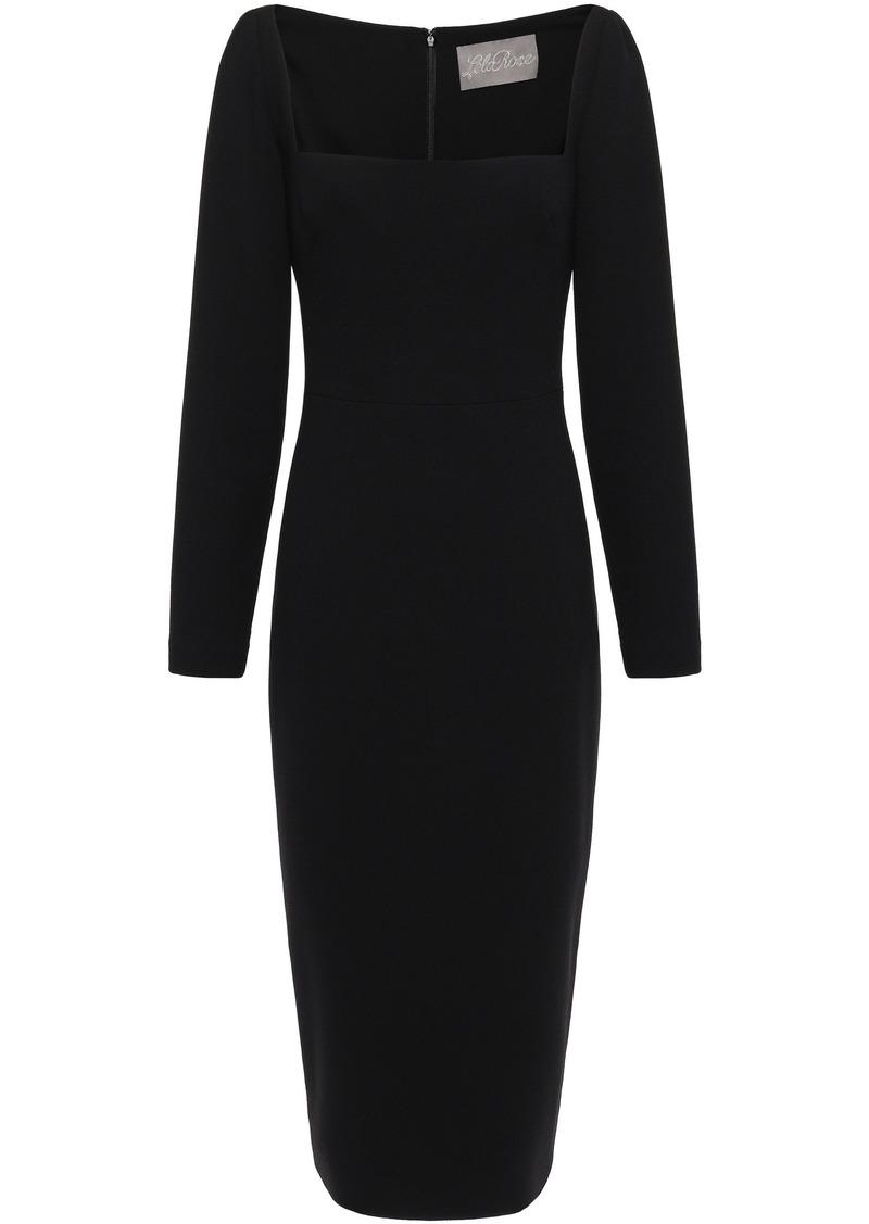 Lela Rose Woman Wool-blend Crepe Midi Dress Black