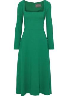 Lela Rose Woman Wool-blend Crepe Midi Dress Green