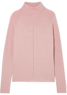 Lela Rose Woman Wool Turtleneck Sweater Baby Pink