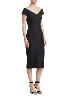 Open-Neck Sheath Dress