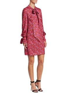 Lela Rose Resort Neck Tie Shirtdress