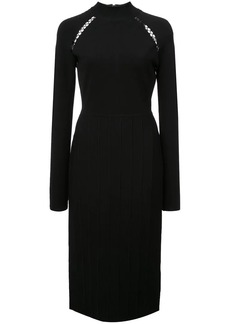 Lela Rose ribbed detail fitted dress