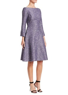Lela Rose Sequin Embroidered Tweed Dress