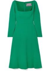 Lela Rose Wool-blend Cady Midi Dress