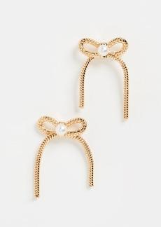 Lele Sadoughi Bow Stud Earrings