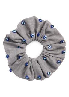 Lele Sadoughi Evil Eye Oversize Woven Scrunchie