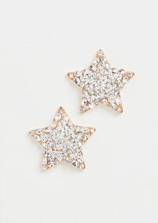 Lele Sadoughi Jeweled Star Button Earrings