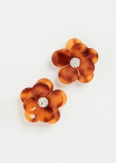Lele Sadoughi Poppy Button Earrings