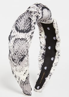 Lele Sadoughi Python Silk Knotted Headband
