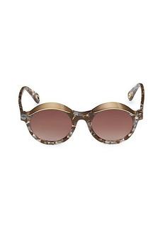 Lele Sadoughi Tribeca Canopy 48MM Round Sunglasses
