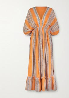 Lemlem Amira Printed Cotton-blend Gauze Midi Dress