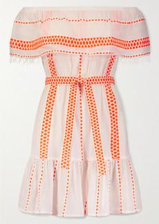 Lemlem Jemari Off-the-shoulder Tiered Striped Cotton-blend Gauze Dress