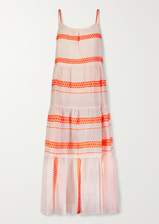 Lemlem Jemari Tiered Striped Cotton-blend Gauze Midi Dress