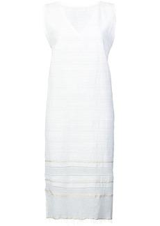 Lemlem Kelali frayed V-neck dress
