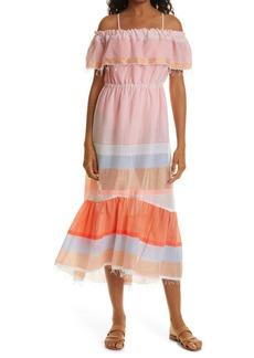lemlem Marjani Beach Off the Shoulder Cover-Up Dress