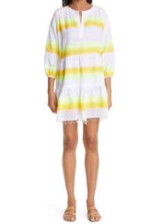 lemlem Mazaa Stripe Popover Cover-Up Dress