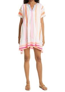 lemlem Stripe Pintuck Cover-Up Shift Dress