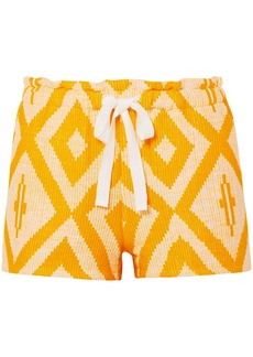 Lemlem Woman Biruhi Printed Cotton-blend Jacquard Shorts Marigold