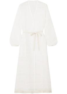 Lemlem Woman Kelali Striped Cotton-gauze Robe White