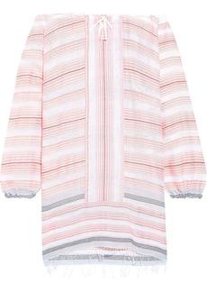 Lemlem Woman Tereza Off-the-shoulder Cotton-blend Jacquard Dress Baby Pink