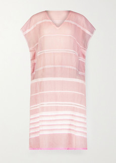 Lemlem Lola Fringed Striped Cotton-blend Gauze Midi Dress