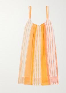 Lemlem Net Sustain Eshal Striped Cotton-gauze Mini Dress