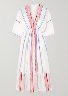 Lemlem Net Sustain Hiwot Striped Cotton-blend Gauze Midi Dress