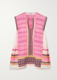 Lemlem Net Sustain Neela Cotton-blend Gauze Mini Dress