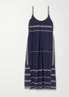 Lemlem Net Sustain Nunu Embroidered Cotton-gauze Midi Dress