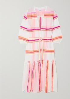Lemlem Net Sustain Qelem Belted Striped Cotton-blend Gauze Robe