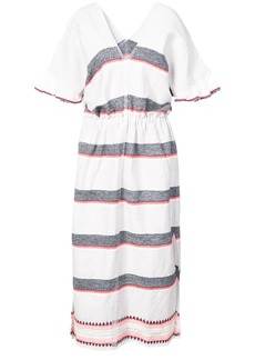 Lemlem striped v-neck dress