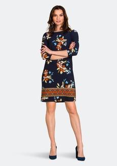 Leota Amora Shift Dress In Santa Barbara Floral Blue - S
