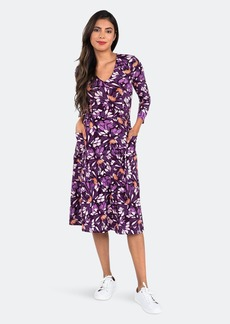 Leota Eliza Dress In Lavish Sunset Purple - L - Also in: XL