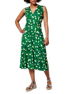 Women's Leota Cindy Print Ruched Waist Midi Dress