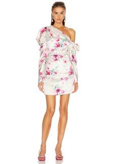 Les Reveries Off Shoulder Puff Sleeve Mini Dress