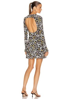 Les Reveries Open Back Long Sleeve Mini Dress